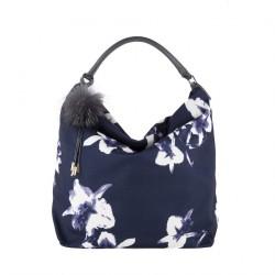 Hand bag, Elvia Blue, fabric
