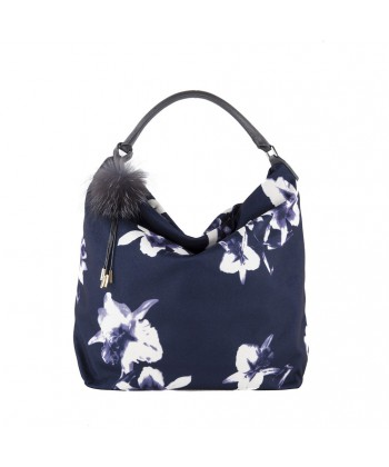 Hand bag, Elvia Blue, fabric
