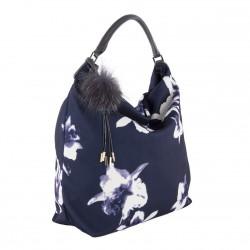 Handtasche, Elvia Blau, stoff