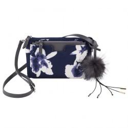 Bolsa de ombreiro, Elvira Azul, tecido