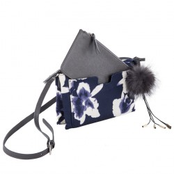Shoulder bag, Elvira Blue, fabric