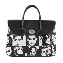 Handtasche, Aura, Schwarz, stoff