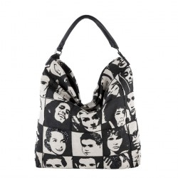 Shoulder bag, Clarissa Black, fabric