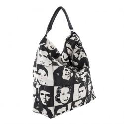 Bolsa de ombreiro, Clarissa Negro, tecido