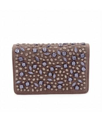 Bag clutch, Emogine Vintage, eco suede with rhinestones