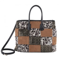 Hand bag, Judith Brown, fabric
