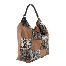 Shoulder bag, Elise Brown, fabric