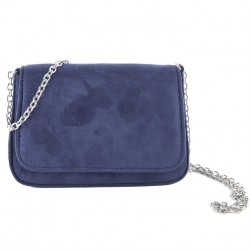 Bag clutch, Eugenia Blue, faux leather