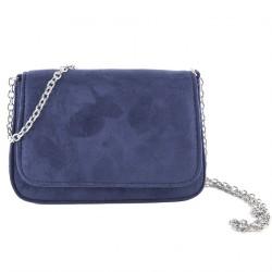 Bolsa de embrague, Eugenia Azul, cuero de imitación