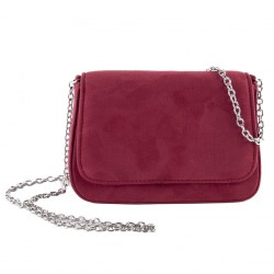 Bag clutch, Eugenia Red, faux leather