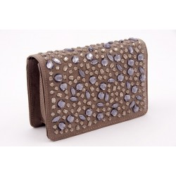 Bag clutch, Emogine Vintage, eco suede with rhinestones
