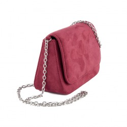 Sac d'embrayage, Eugenia Rouge, faux cuir