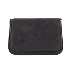 Bag clutch, Eugenia Black, faux leather