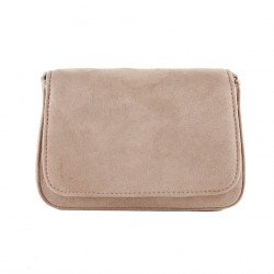 Bag clutch, Eugenia Beige, faux leather