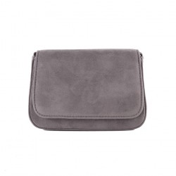 Bag clutch, Eugenia Grey, in faux leather
