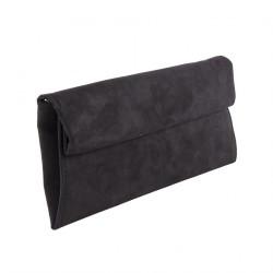 Bolsa de embrague, Esterina Negro, de cuero de imitación