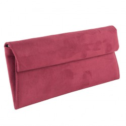Bag clutch, Esterina Red, faux leather