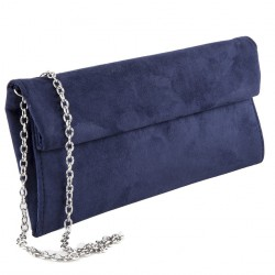 Bolsa de embrague, Esterina Azul, cuero de imitación