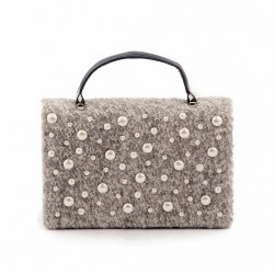 Bag clutch, Emerald pearl Grey