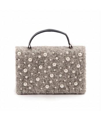 Bag clutch, Emerald pearl Grey