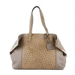 Hand bag, Rebecca Beige, leather
