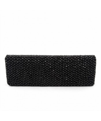 Bag clutch, Karan Black, fabric with stones