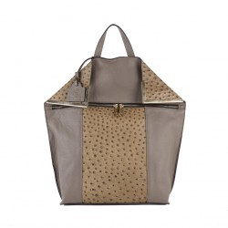 Bag backpack, Filippa Beige, leather