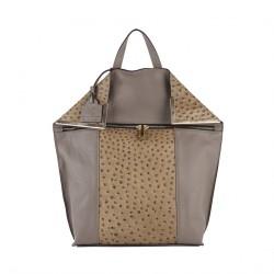 Bolsa mochila, Filippa Beige, cuero