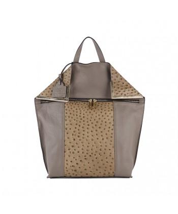 Bag backpack, Filippa Beige, leather