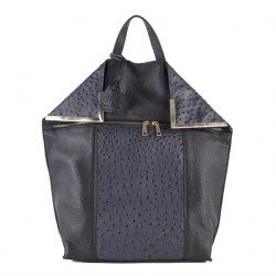 Sac de sac à dos, Philippa Gris, du cuir