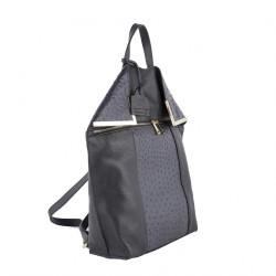 Bolsa mochila, Philippa Gris, cuero