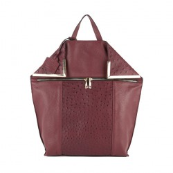 Bag backpack, Filippa Red, leather