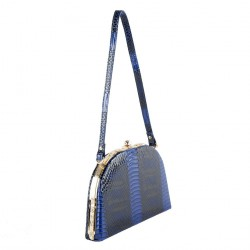 Hand bag, Alina Blue, faux leather