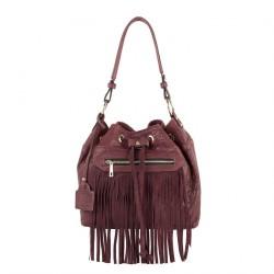 Shoulder bag, Nikki Red, leather