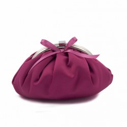 Bag clutch, Paola Fuchsia, satin