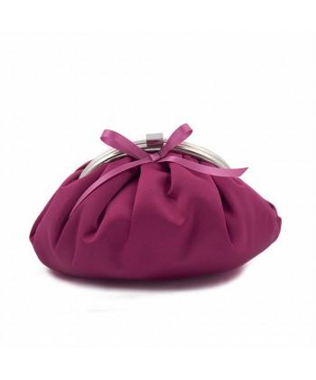 Bag clutch, Paola Fuchsia, satin