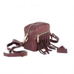 Shoulder bag, Peggie Red, leather