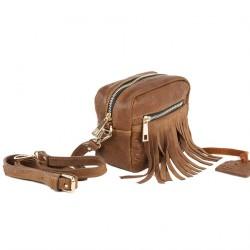 Shoulder bag, Peggie Brown, leather