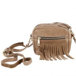 Shoulder bag, Peggie Beige, leather