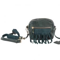 Shoulder bag, Peggie Green, leather