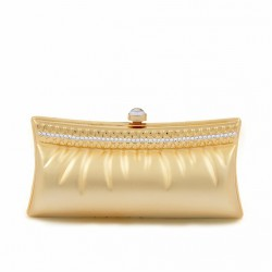 Clutch-tasche, Sherri Gold, satiniertes metall