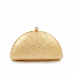 Bag clutch, Tricia Gold, brushed metal