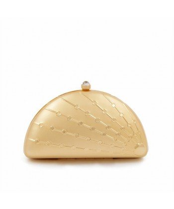 Clutch-tasche, Tricia Gold, satiniertes metall