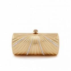 Bolsa de embrague, Krystal de Oro, de metal cepillado