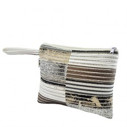 Borsa clutch, Lisbona Panna, in sympatex
