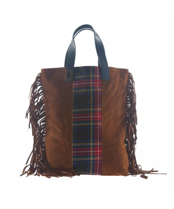 Hand bag, Rosi Brown, fabric, made in Italy