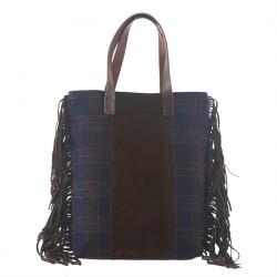 Handtasche, Marilu Blau, stoff, made in Italy