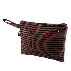 Borsa clutch, Lisbona Marrone, in sympatex