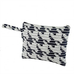 Borsa clutch, Lisbona Pixel, in sympatex