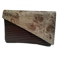 Borsa clutch, Mykonos Marrone, in sympatex